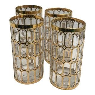 Imperial Gold 'Spanish Windows' Highball Glasses - Set of 4