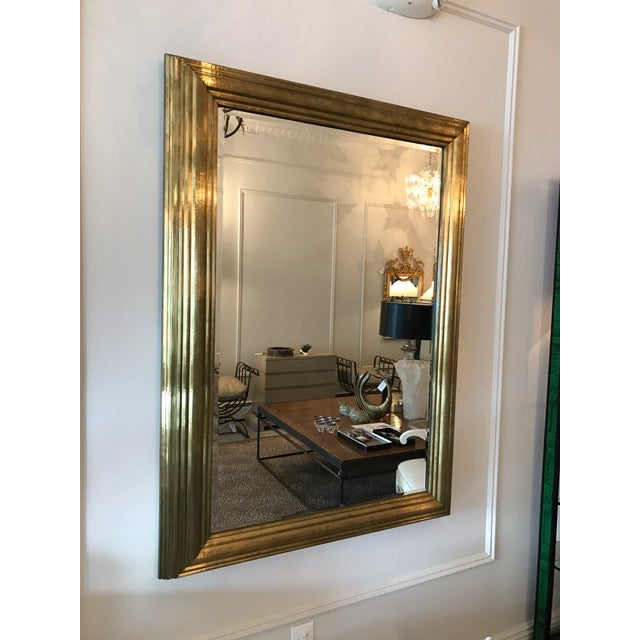 Brass Wrapped Bistro Mirror - Image 2 of 3