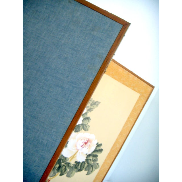 Oriental Silk Screen with Chrysanthumums - Image 5 of 6