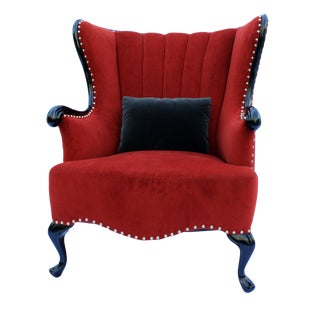 Vintage Channel Wing Back Chair