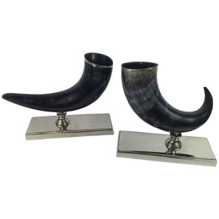 Natural Horn Vases - A Pair