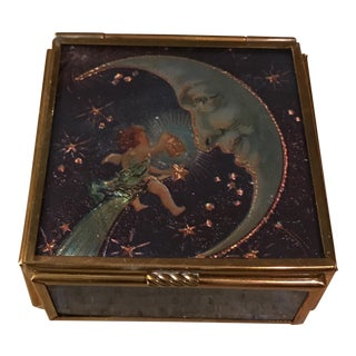 Handcrafted Cherub Moon Trinket Box