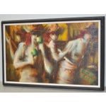 Image of C.1970 Caribbean Mood Oil Painting by Reuben