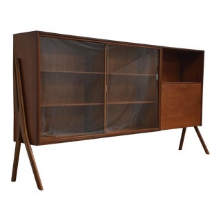 Danish Sculpted Teak Bookcase