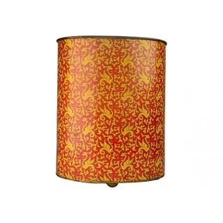 Red and Gold Exotic Asian-Style Paper Basket