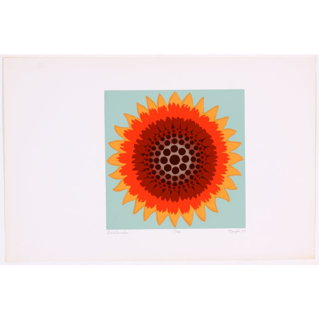 Gaillardia Abstract Screen Print by T. Confer, '75 - Image 2 of 7