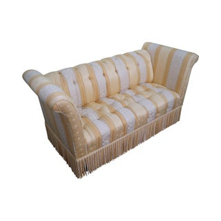 Old Hickory Tannery Upholstered Tufted Settee