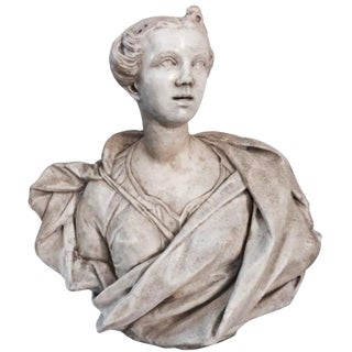 Marbe Bust of Lady, ca. 1690