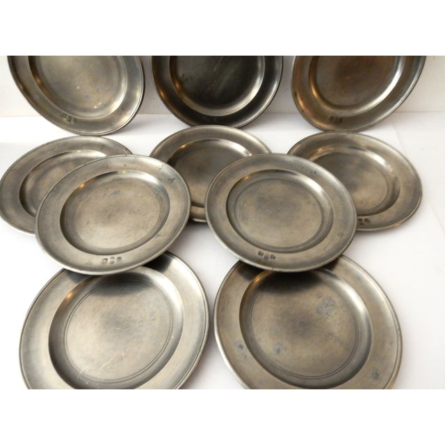 Traditional Pewter Sous Plats - Set of 10 - Image 7 of 9