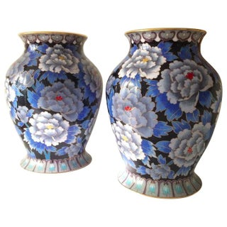 Chinese Chintz Style Vases - A Pair