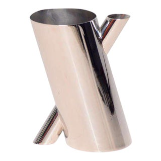 Mario Botta Chrome-Plated Vase