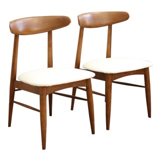 Vintage Mid-Century Modern Scandia Danish Teak Chair - Pair
