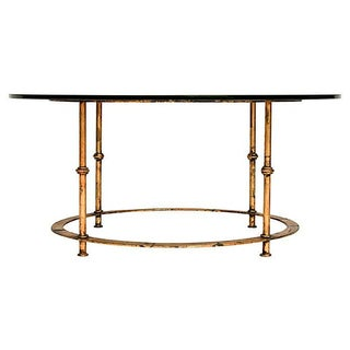 Gilded Bamboo-Style Coffee Table