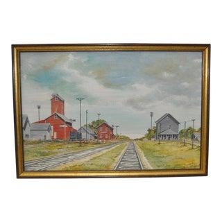 Osborne Flour Mill Ellsworth, Iowa by Grenavieve Kuhfus c.1976