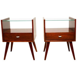 Pair of Mid-Century Modern Nightstands by Mengel