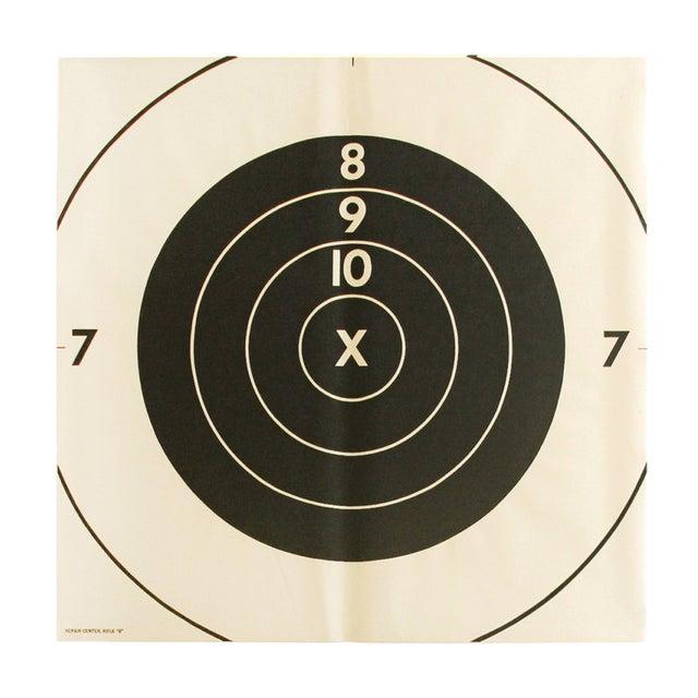Image of Vintage Extra-Large Bullseye Target Poster