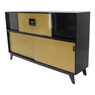 Mid-Century Modern Credenza Black Lacquer Gredenza Bar Liquor Cabinet