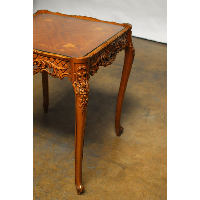 French Provincial Inlaid Table - Image 3 of 4