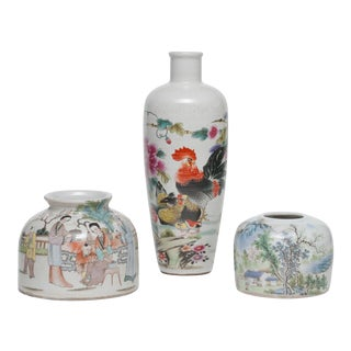 Antique Porcelain Chinese Vases - Set of 3