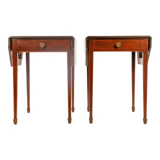 American Mahogany Drop-Leaf Side Tables - a Pair