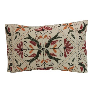 Vintage Embroidery Indian Linen Decorative Pillow