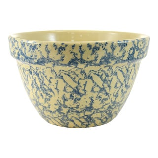 Blue Sponge Farmhouse Bowl