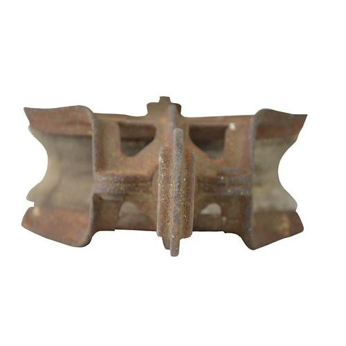 Vintage Rustic European Barn Pulley - Image 3 of 4