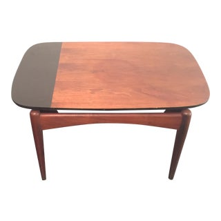 Danish Walnut Lacquered Side Table