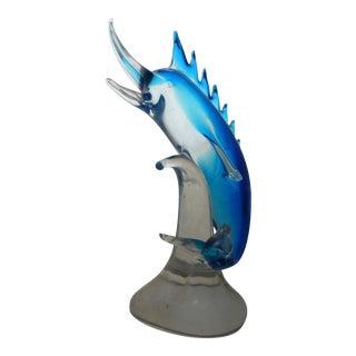 Vintage Murano Glass Marlin Fish Sculpture