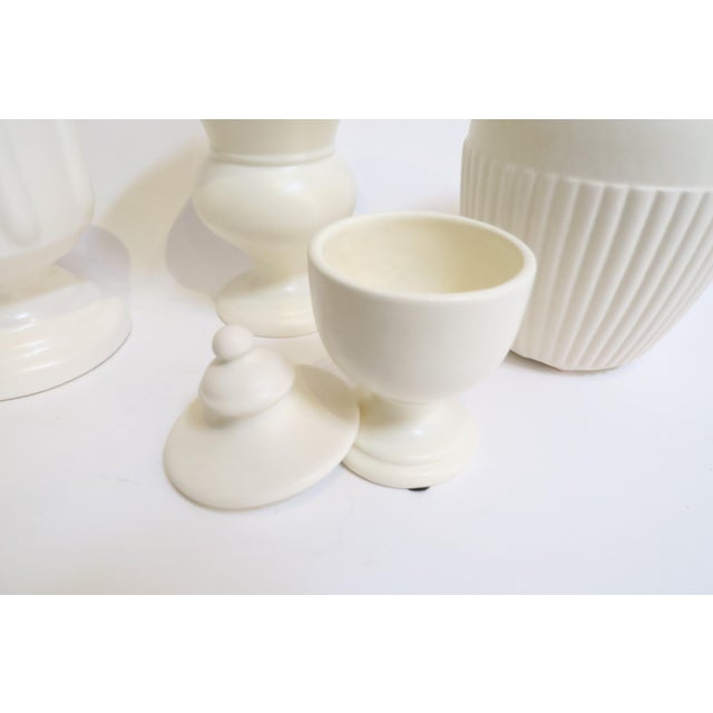 White Ceramic Vessels- Set of 4 - Image 5 of 5