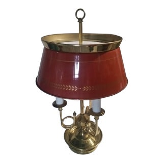 Empire Style Bouillotte Lamp With Tole Shade