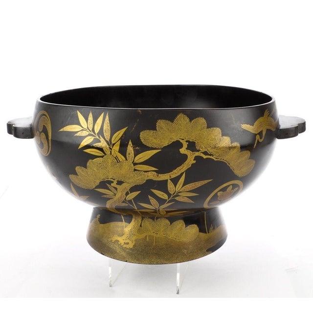Image of Antique Japanese Maki-E Lacquer Center Bowl