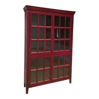 Red Country Display Cabinet