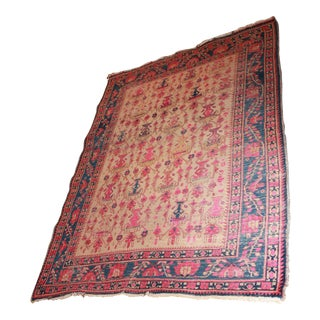 Antique Woven Persian Rug - 4′5″ × 6′3″