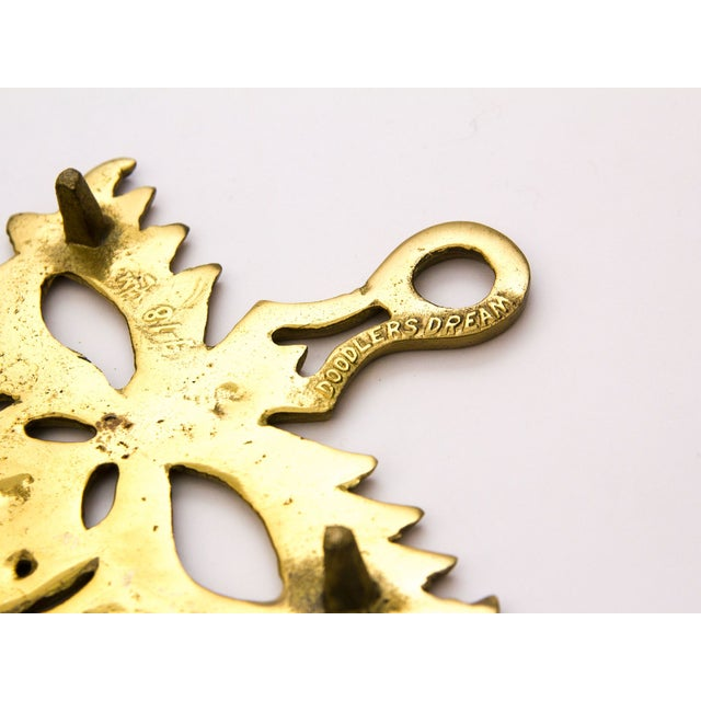 Vintage Brass Mask Trivet - Image 3 of 5