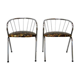 Mid Century Modern Chrome Children's Chairs - Pair