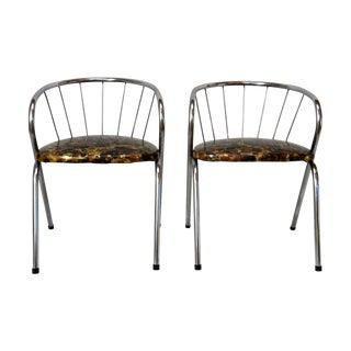 Mid Century Modern Chrome Children's Chairs - Pair