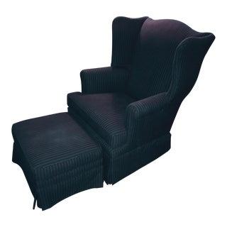 Thom Browne Pinstripe Club Chair & Ottoman