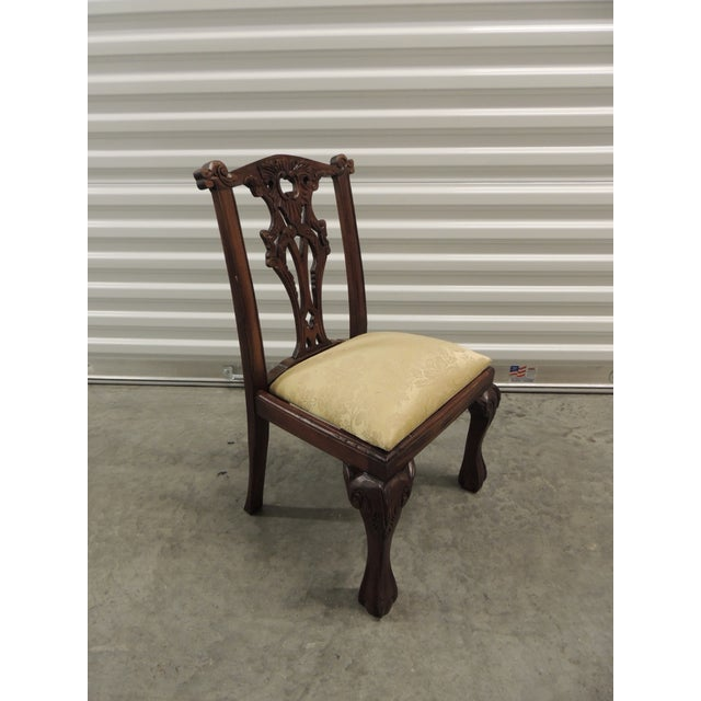 Vintage Carved Wood Children Chair - Image 2 of 5