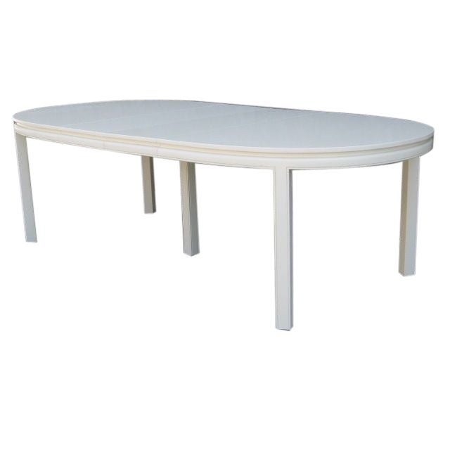 Mid Century White Lacquer Dining Table Chairish