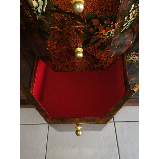 Red Asian Cabinet - Image 5 of 9