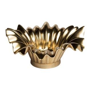 Emporium Home Brass Wave Bowl