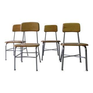 Heywood Wakefield Mid Century Children's School Chairs - Set of 4