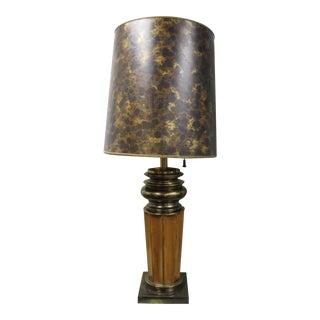 Vintage Brown & Gold Stiffel Table Lamp