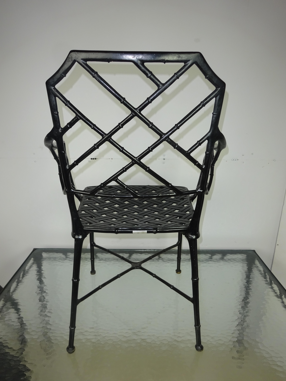 Brown jordan calcutta faux bamboo table amp arm chairs chairish