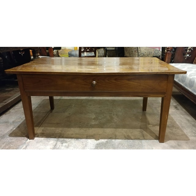 19th Century French Farm Walnut Coffee Table - Image 3 of 10