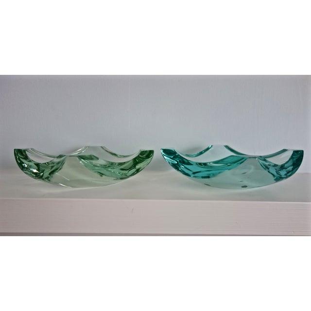 Erwin Burger Fontana Arte Glass Dishes - A Pair - Image 3 of 8