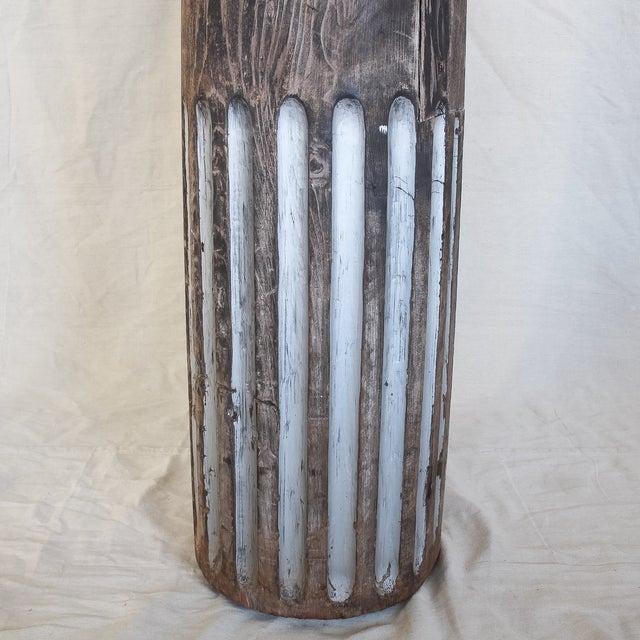 Antique Redwood Column - Image 3 of 8