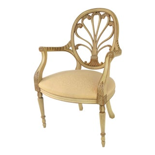 Hickory Chair Co. Italian Style Cream & Gold Carved Chair