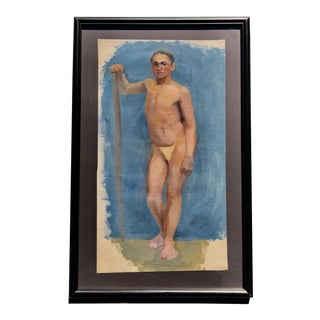 19th Century Artists Study of Male Nude